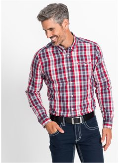 Camicia a quadri a manica lunga regular fit, bpc selection