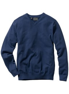 Pullover in maglia fine con scollo a V regular fit, bpc selection