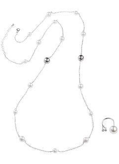 Parure collana + anello (set 2 pezzi), bpc bonprix collection