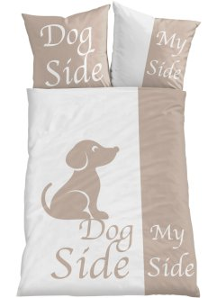 Biancheria da letto double face con cagnolini, bpc living bonprix collection