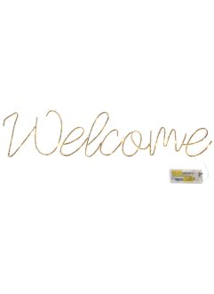 "Scritta con luci LED ""Welcome"", bpc living"