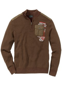 Pullover con colletto alto, bpc selection