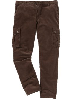 Pantalone cargo in velluto regular fit, bpc bonprix collection