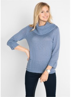 Pullover a collo alto con tasche, bpc bonprix collection