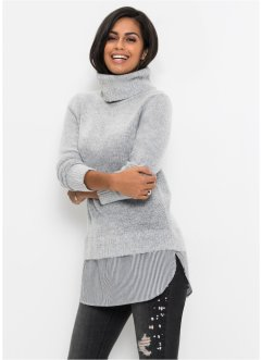 Pullover a collo alto 2 in 1, BODYFLIRT