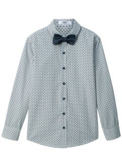 Camicia a maniche lunghe e papillon (2 pezzi) slim fit, bpc bonprix collection