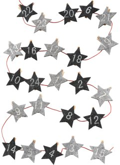 "Calendario dell'Avvento con mollette ""Stelle"", bpc living"
