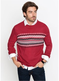 Pullover con motivi jacquard regular fit, bpc bonprix collection