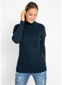Pullover in cotone a collo alto, bpc bonprix collection