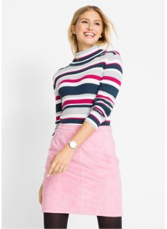 Pullover a righe con collo alto, bpc bonprix collection
