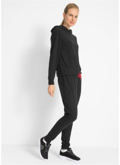 Pile con cappuccio + pantalone in pile (set 2 pezzi), bpc bonprix collection