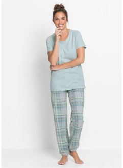 Pantalone per pigiama con cinta a costine, bpc bonprix collection