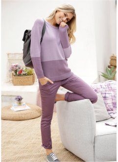 Pullover color block con scollo rotondo, bpc bonprix collection