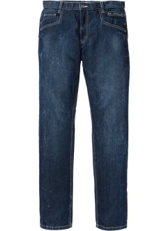 Jeans con cavallo rinforzato regular fit straight, John Baner JEANSWEAR