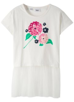 T-shirt con tulle, bpc bonprix collection
