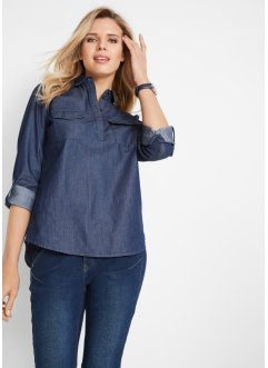 Blusa in jeans a manica lunga, John Baner JEANSWEAR