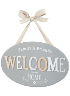 "Targa decorativa ""Welcome"", bpc living"
