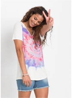 T-shirt con scollo a V, RAINBOW