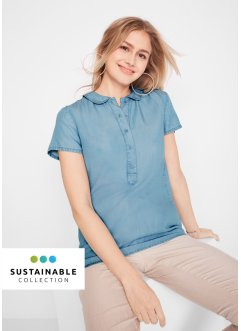 Blusa in lyocell sostenibile, bpc bonprix collection