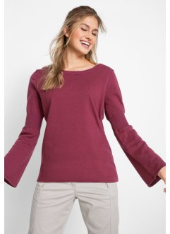 Pullover in filato fine con maniche a campana, bpc bonprix collection