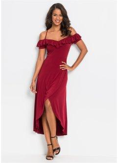 da36ffd8fb6c ... Donna Rosso Lungo Vestito Elegante Abiti di Sera ... Abito scollato