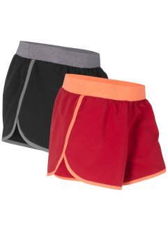 Pantaloncino per lo sport in microfibra (pacco da 2), bpc bonprix collection