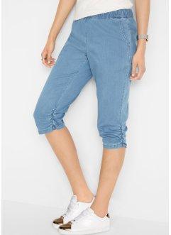 1bc53474fdf6dc Pinocchietto di jeans elasticizzato con arricciature, John Baner JEANSWEAR