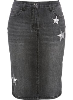 Gonna di jeans con stelle, bpc selection