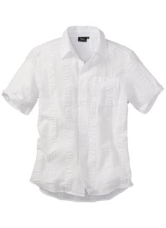 Camicia in seersucker a maniche corte, bpc bonprix collection