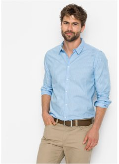 Camicia a righe con manica lunga, bpc bonprix collection