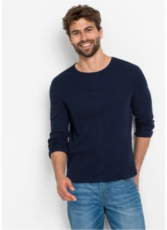 Maglia basic a costine con manica lunga, bpc bonprix collection
