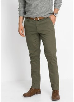 Pantaloni chino elasticizzati slim fit, bpc bonprix collection