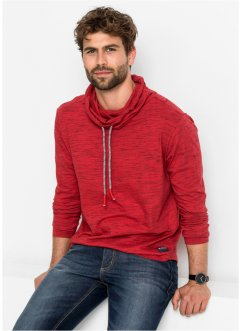 Maglia a manica lunga con collo a scialle regular fit, bpc bonprix collection