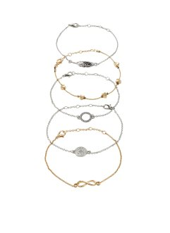 Bracciali (set 5 pezzi), bpc bonprix collection