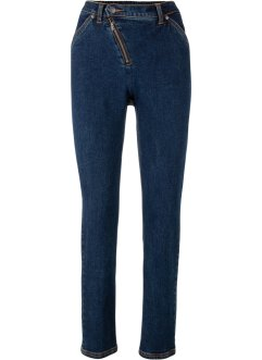 Jeans con cerniera obliqua, bpc bonprix collection
