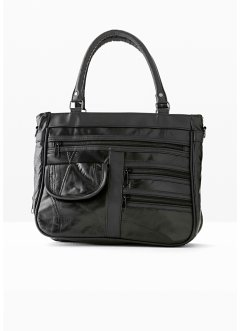 "Borsa in pelle ""Patch"" con cerniere, bpc bonprix collection"