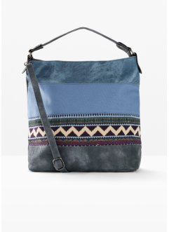 Borsa shopper in denim stile etnico, bpc bonprix collection