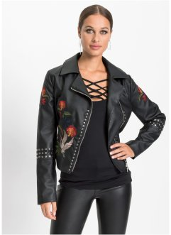 Giubbino in similpelle stile biker, BODYFLIRT boutique