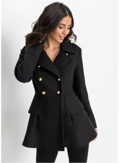 Cappotto corto stile militare in misto lana, BODYFLIRT boutique