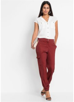 Pantaloni cargo in satin, BODYFLIRT