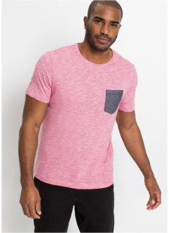 T-shirt mélange con taschino in chambray, bpc bonprix collection