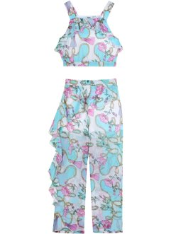 Top e pantaloni con volant (set 2 pezzi), bpc bonprix collection