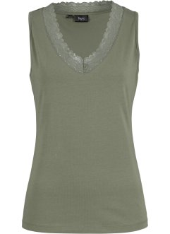 Top con pizzo a uncinetto, bpc bonprix collection
