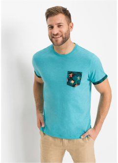 T-shirt con taschino e risvolti fantasia, bpc bonprix collection