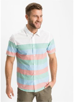 Camicia a maniche corte con fantasia a righe, bpc bonprix collection