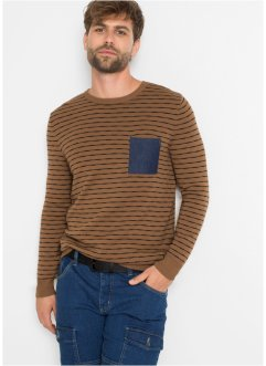 Maglione con taschino in denim, John Baner JEANSWEAR