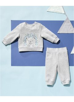 Felpa e pantaloni (set 2 pezzi) in cotone biologico, bpc bonprix collection