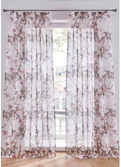 Tenda trasparente a fiori con stampa digitale (pacco da 1), bpc living bonprix collection