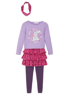 Maglia, gonna, leggings, accessorio (set 4 pezzi), bpc bonprix collection