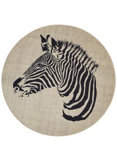 Tappeto rotondo con zebra, bpc living bonprix collection